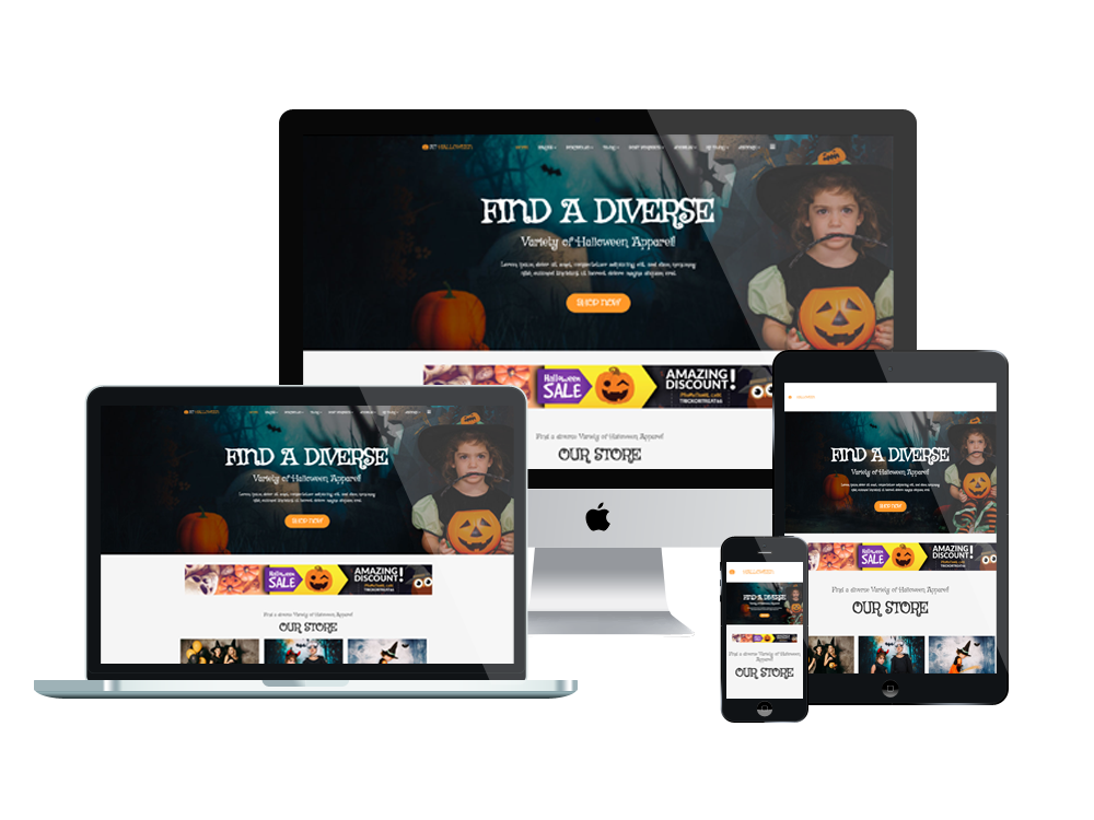 AT Halloween Joomla template Layout