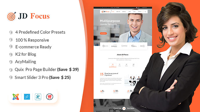 JD Focus - Business & eCommerce Joomla Template