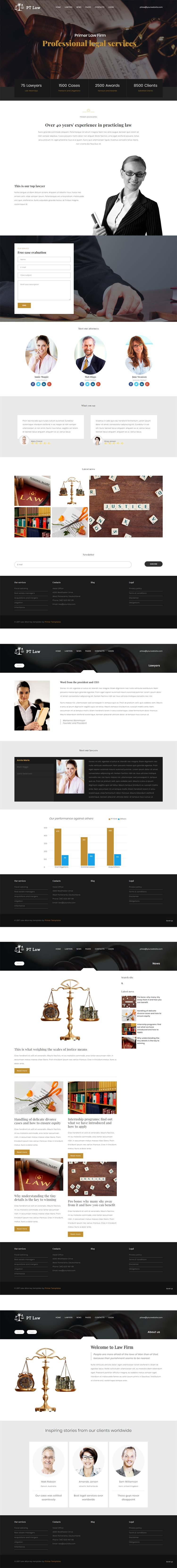 Law agency Joomla template