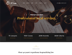 Law Services Joomla Template - PT Law