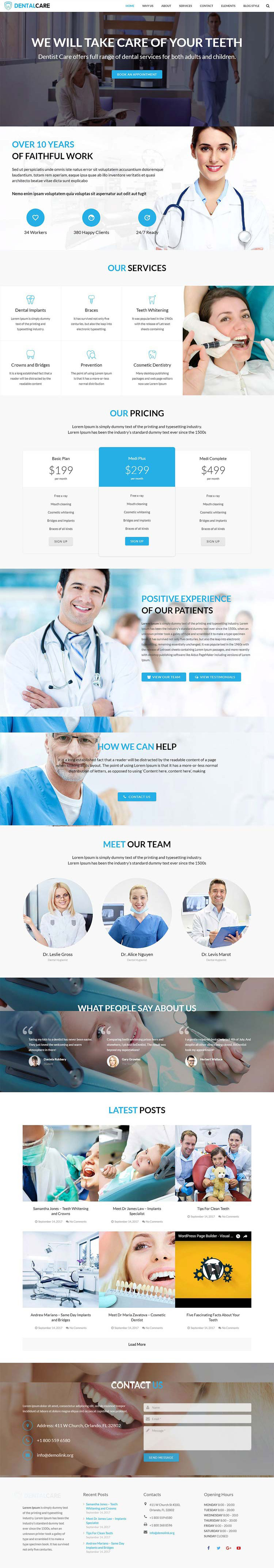 Dentalcare WordPress theme