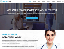 Dental Clinic Wordpress Theme - DentalCare