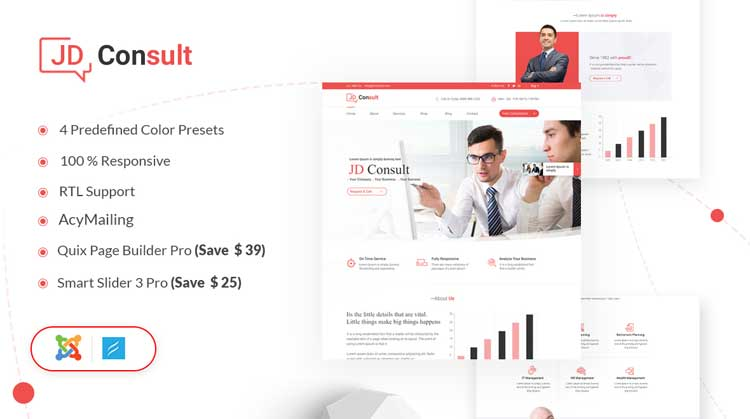 JD Consult - Business & eCommerce Joomla Template