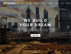 Construction WordPress Theme - Turner