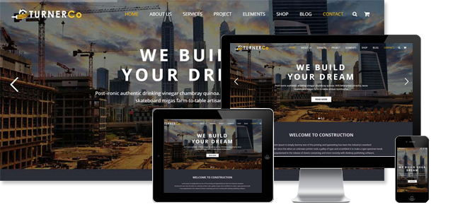 Turner - Construction WordPress Theme