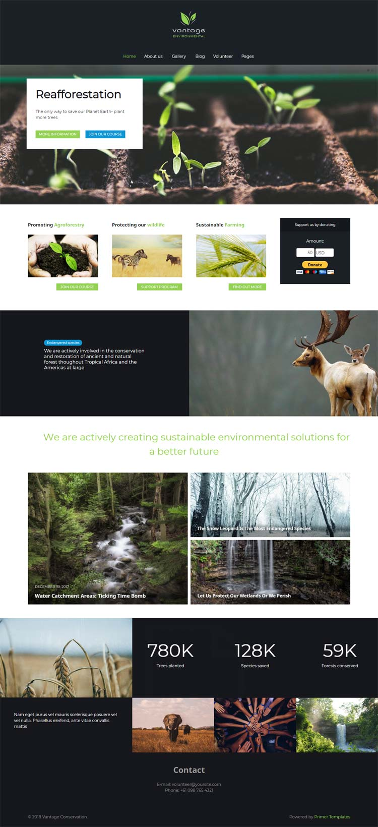 Drug and Drop Eco Joomla template
