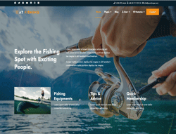 Responsive Joomla! Template - AT Fishing