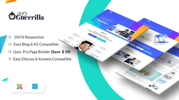 JD Guerrilla - Marketing Agency Joomla! Template