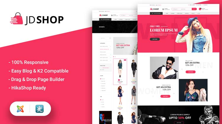 Advanced Joomla Hikashop eCommerce Template