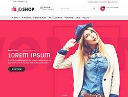 Advanced Joomla eCommerce Template - JD Shop