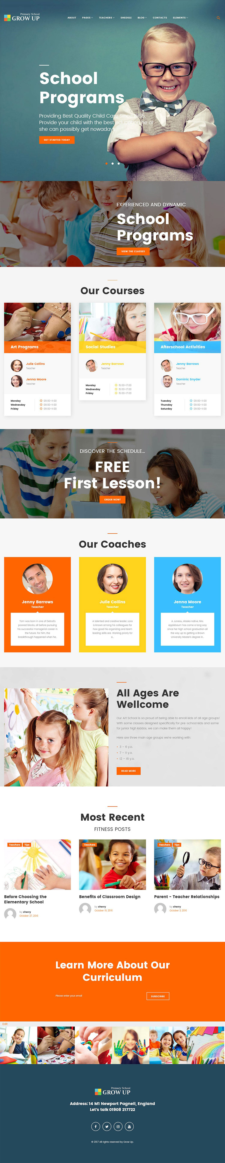 Educational WordPress theme