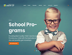 Education WordPress Theme - Grow Up
