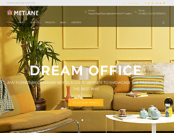 Interior Design WordPress Theme - Metiane