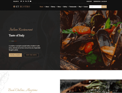Restaurants Joomla! Template - ET Rustro