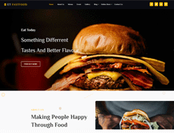 Restaurant Joomla! Template - ET Fast Food