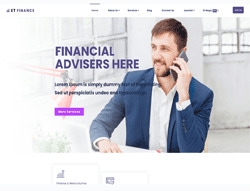 Financial Joomla! Template - ET Finance