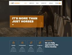 Equestrian Joomla Template - ET Horse