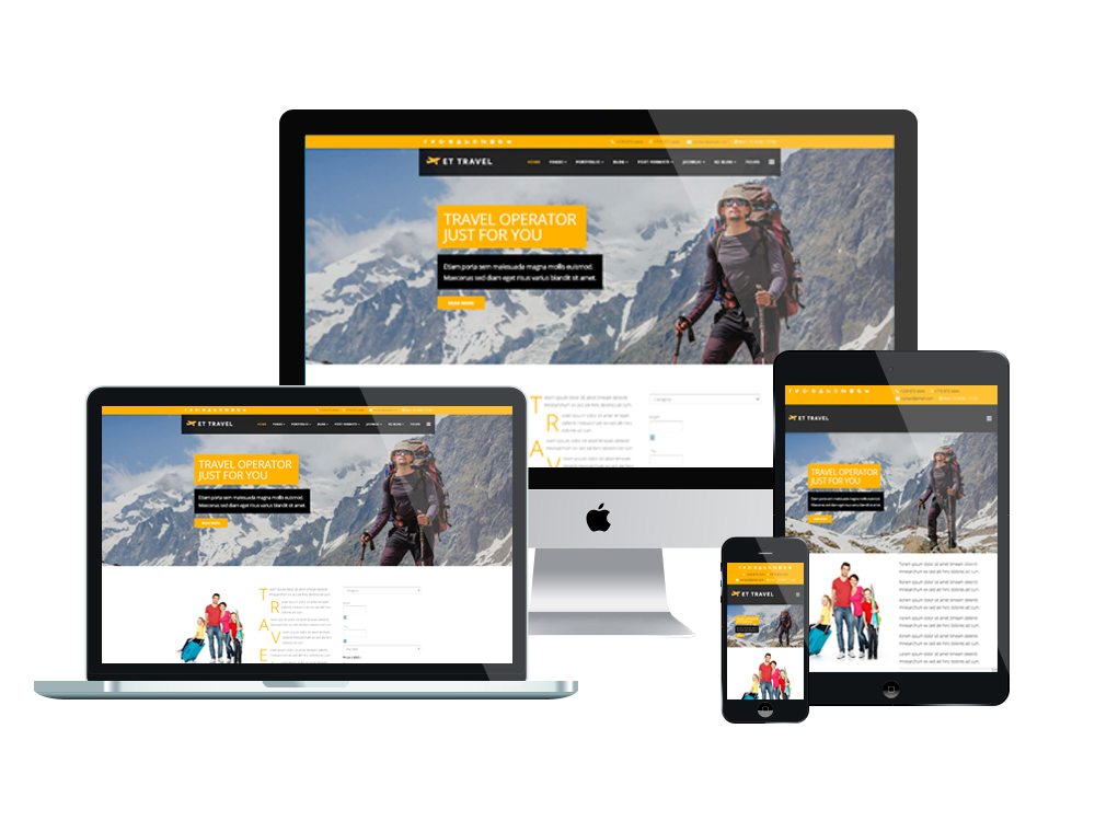 Travel joomla template Layout