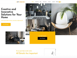 Interior Design Joomla! Template - ET Indecor