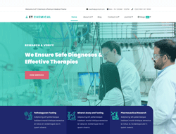 Science Joomla Template - ET Chemical