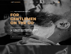 Hair Salon Joomla! Template - ET Barber