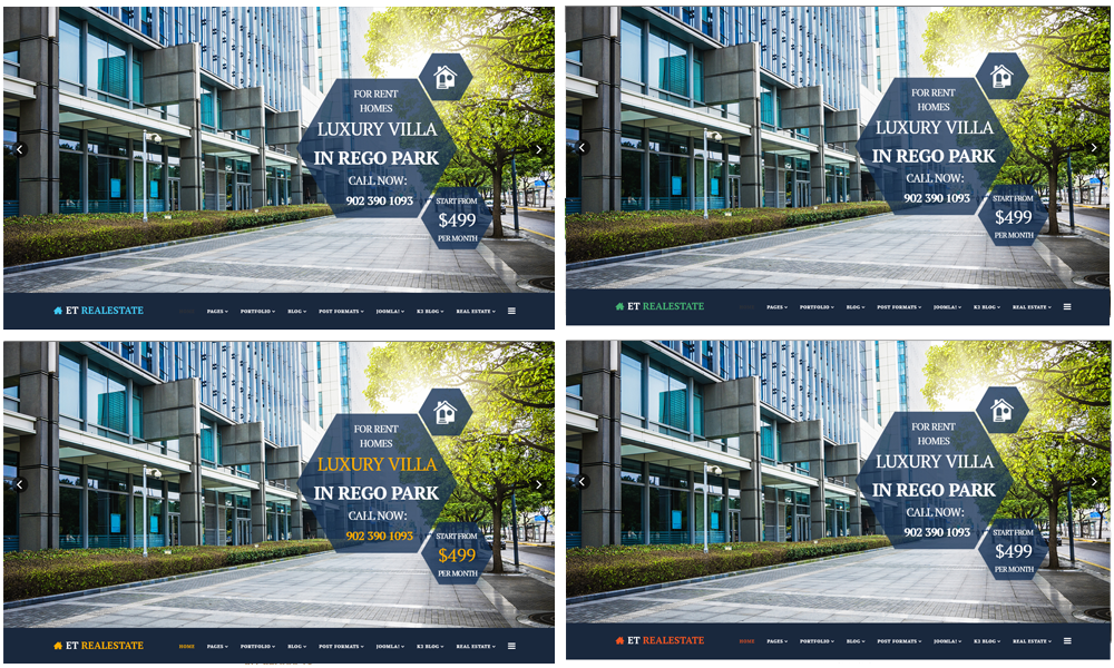 ET Real Estate joomla template Color Styles