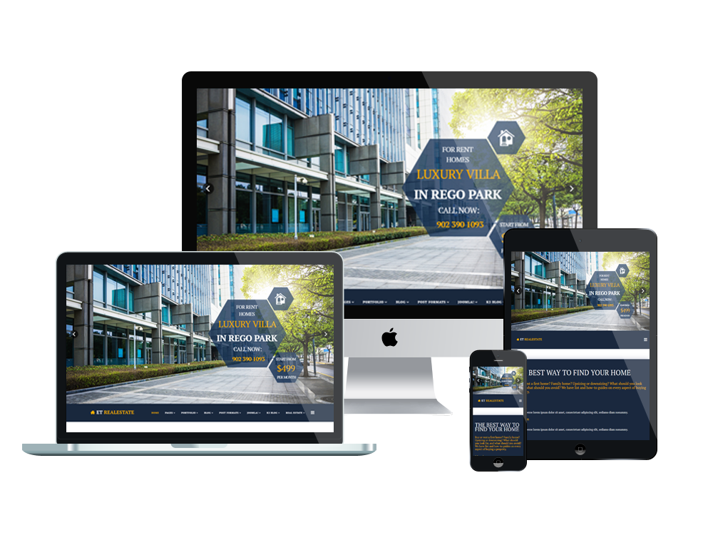 ET Real estate joomla template Layout
