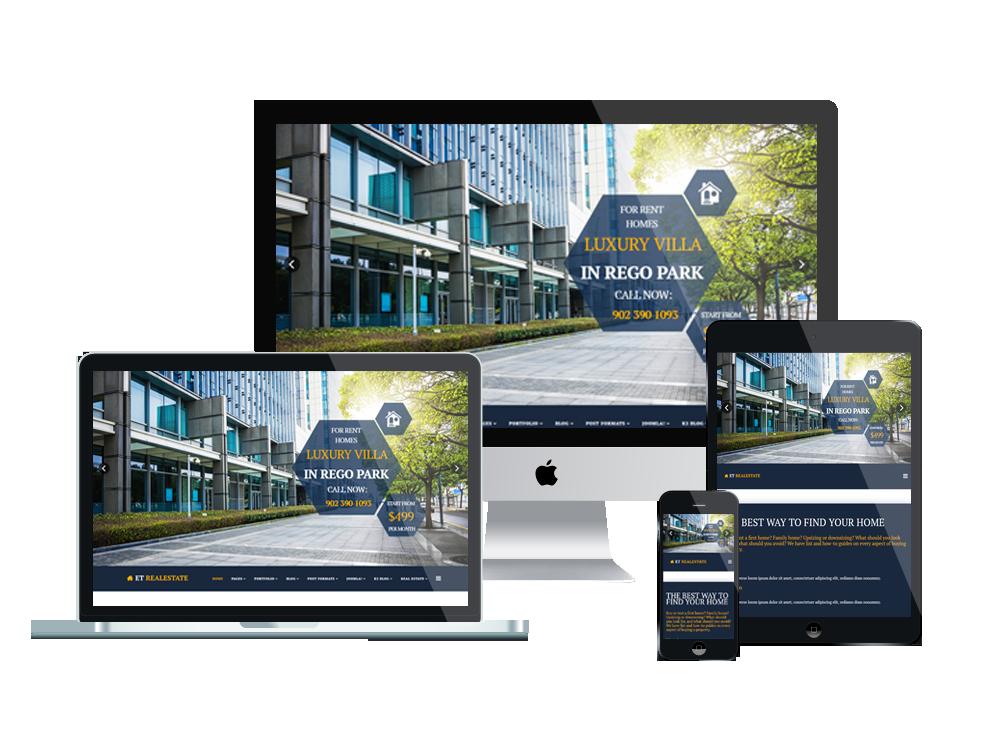 ET Real estate joomla template Layout