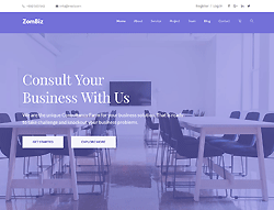 Business Agency Responsive Template - Zombiz