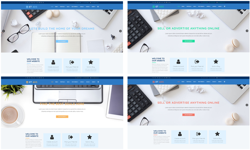 free Classified Ads joomla template Color Styles
