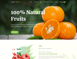 eCommerce Food Joomla Template - ET Fruit