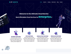 Hosting Joomla Template - ET Hosto