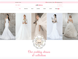 eCommerce Wedding Joomla Template - ET Bridal