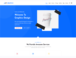 Graphic Design Joomla Template - ET Graphic
