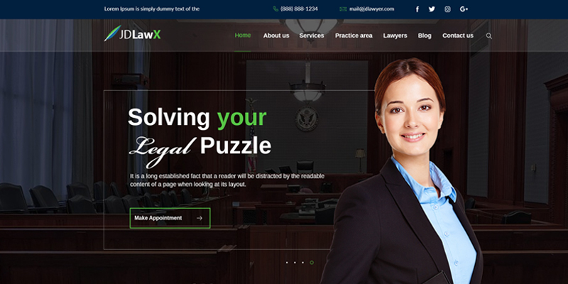 Slider Layout Lawyer Joomla Template