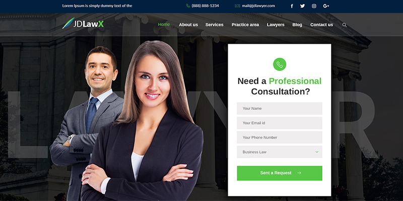 Landing Page LayoutLawyer Joomla Template