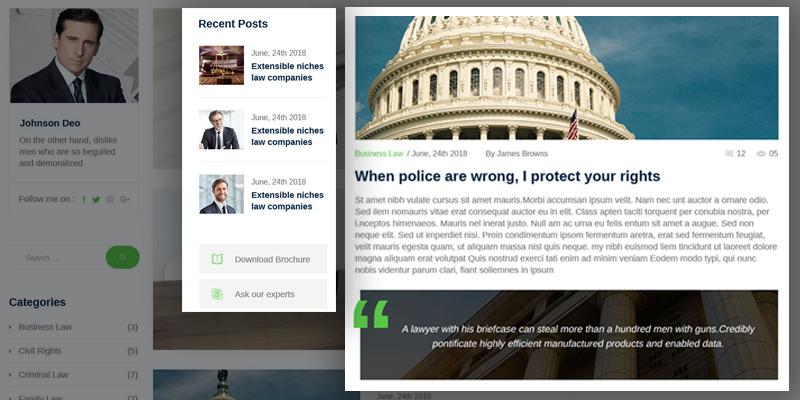 Blog Page Lawyer Joomla Template
