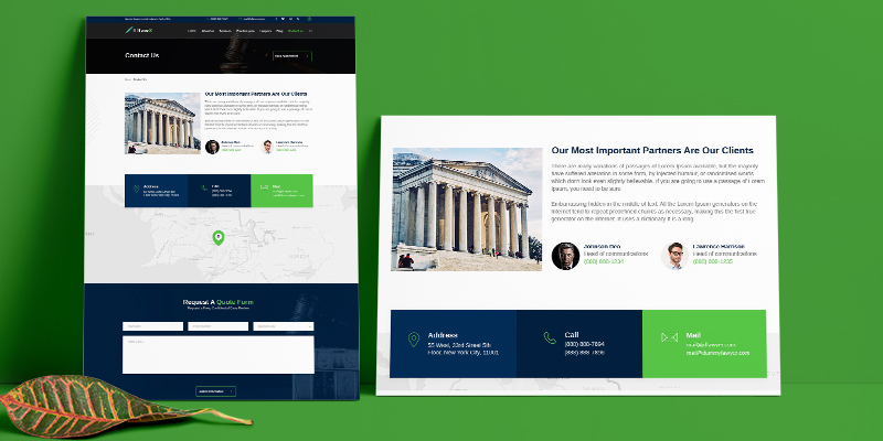 Contact Us Lawyer Joomla Template