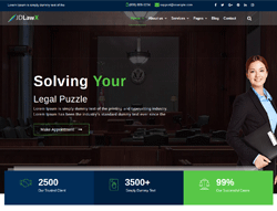 Lawyer Joomla Template - JD LawX