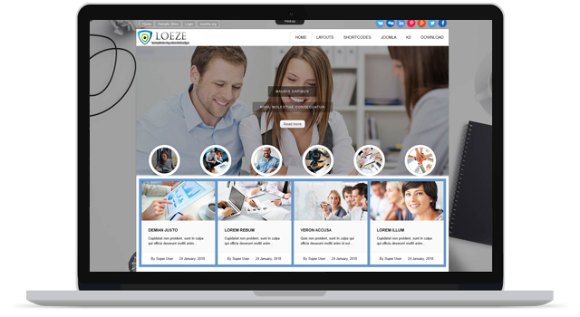OL LOEZE - FREE BUSINESS JOOMLA TEMPLATE