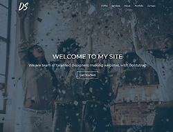 Bootstrap HTML Template - Digital Studio