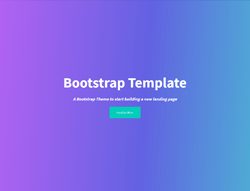 Bootstrap Onepage HTML Template - Travel