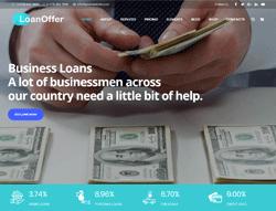 Finance WordPress Theme - Loan Offer