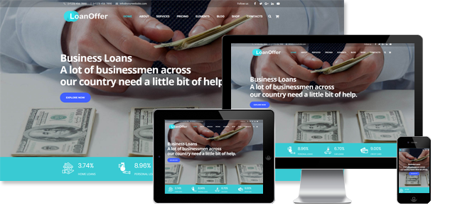 LOAN OFFER - FINANCE WORDPRESS THEME