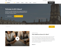 Educational Joomla Template - JSN Educo