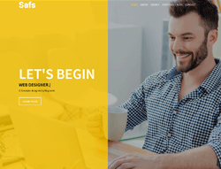 Responsive HTML Template - Safs