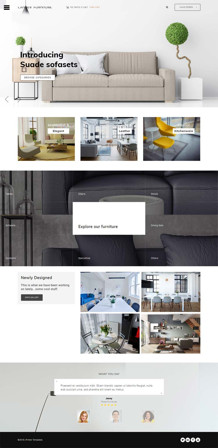Furniture Joomla template