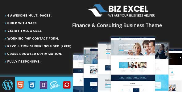 Biz Excel - Business WordPress theme