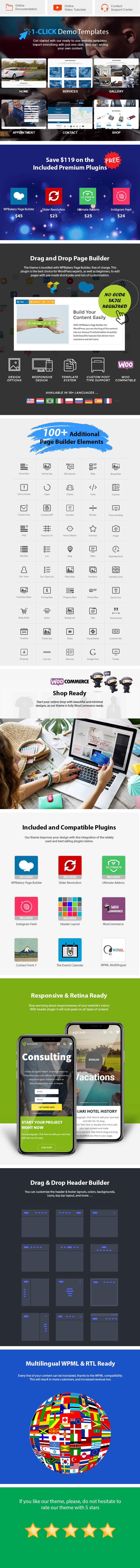 Auto Repair WordPress Theme Features