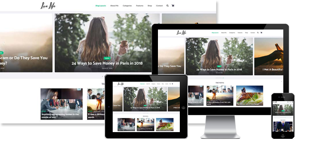 LOVE LIFE - LIFESTYLE WORDPRESS THEME